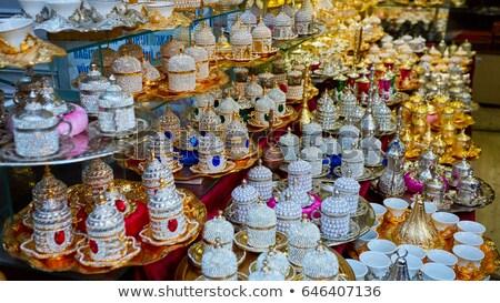 Traditionnel cuivre café bazar Istanbul marché Photo stock © boggy