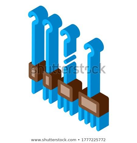 Piercing izometryczny ikona wektora podpisania kolor Zdjęcia stock © pikepicture
