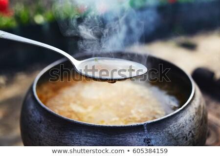 piknik · çorba · pişirme · pot · yangın · gıda - stok fotoğraf © fotografci