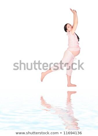 incinta · ragazza · esercizio · donna · salute · sfondo - foto d'archivio © Paha_L