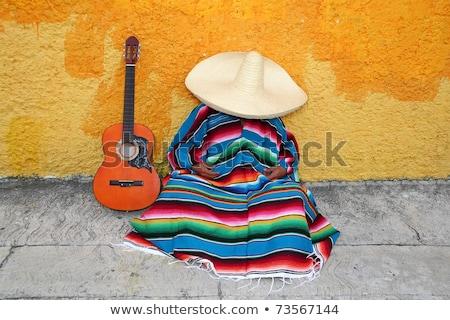 mexikói · városi · jelenet · gitár · természet · háttér · utazás - stock fotó © dayzeren