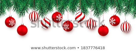 christmas red bauble stock photo © milsiart