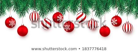 izolált · piros · karácsony · labda · átlátszó · fa - stock fotó © milsiart