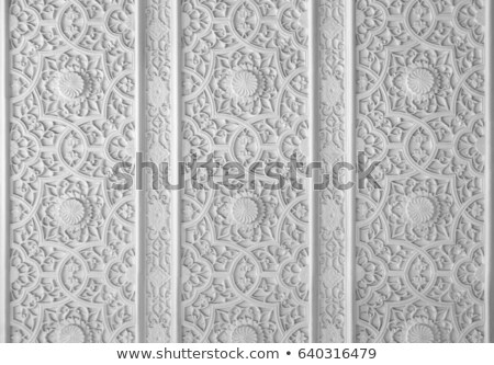 old arabic carved wall Stock photo © smithore