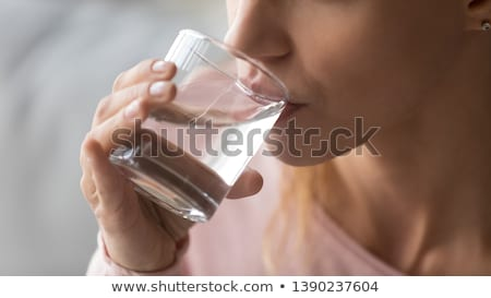 渇き 肖像 ブルネット 少女 飲料水 ボトル ストックフォト © zastavkin