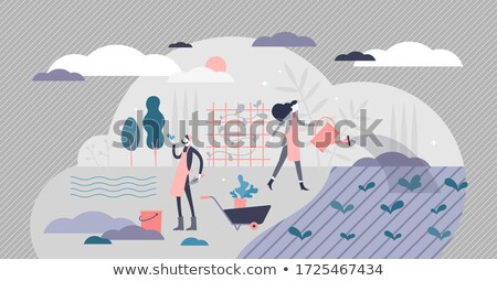 Farming couple in a field Stock photo © photography33