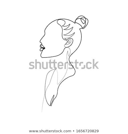 woman's portrait in latex Stock photo © phbcz
