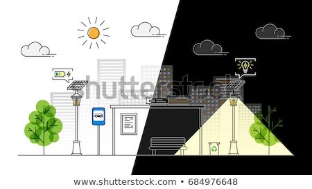 太陽エネルギー 通り ランタン 中古 空 ストックフォト © Hofmeester