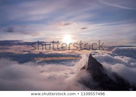 Solitary mountain at sunset Stock photo © broker