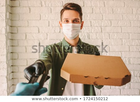 pizza delivery receiving payment Stock photo © photography33