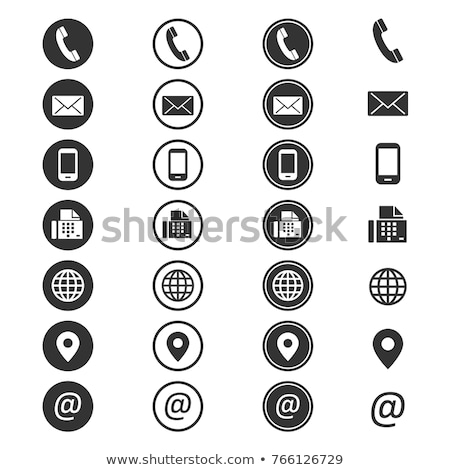 Over ons social media knop geïsoleerd witte technologie Stockfoto © tashatuvango