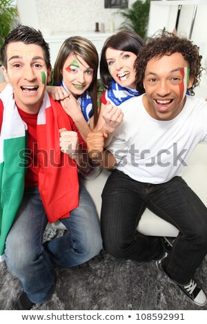 Four Italian football supporters Stock photo © photography33