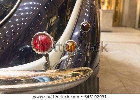 Draaien signaal retro auto oude Stockfoto © Gbuglok