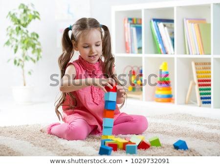 criança · menina · jogar · isolado - foto stock © brebca
