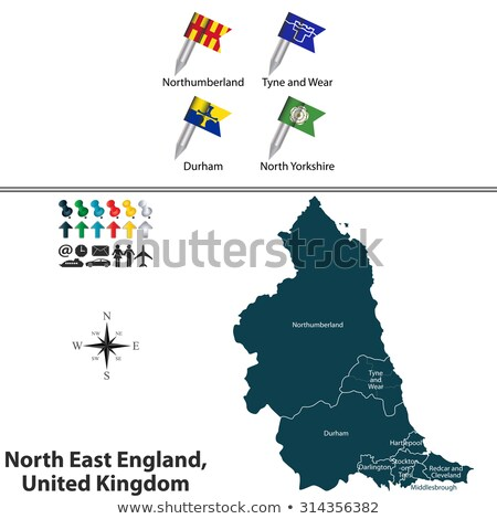 flag of english county of durham stock photo © speedfighter