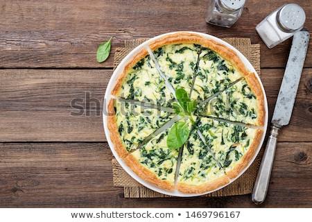 ほうれん草 · フェタチーズ · スライス · カット · パイ - ストックフォト © m-studio