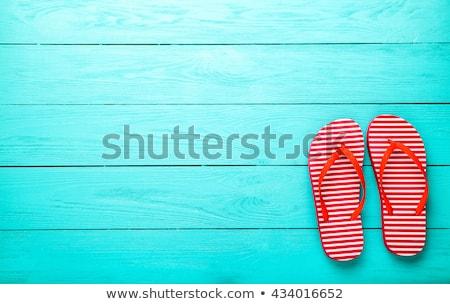 palha · sapatos · sol · parede · edifício · pé - foto stock © ruslanomega