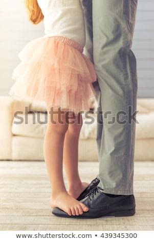 美しい 白人 パパ 娘 ストックフォト © dacasdo