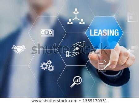 Leasing przycisk nowoczesne tle podpisania Zdjęcia stock © tashatuvango