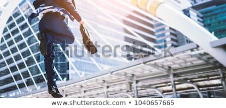 юго-восток · азиатских · бизнесмен · прыжки · привлекательный - Сток-фото © szefei