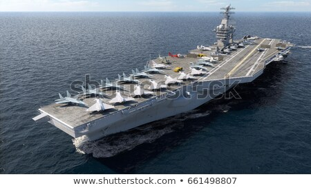 Aircraft carrier - 3D render Stock photo © Elenarts