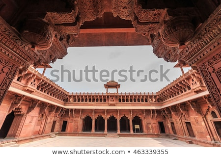 Stock photo: Jahangiri Mahal  in the red Fort in Agra
