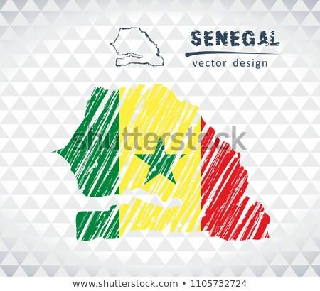 Senegal mappa bandiera isolato bianco Foto d'archivio © michaklootwijk