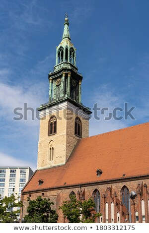 marienkirche church in central berlin german stock photo © photocreo