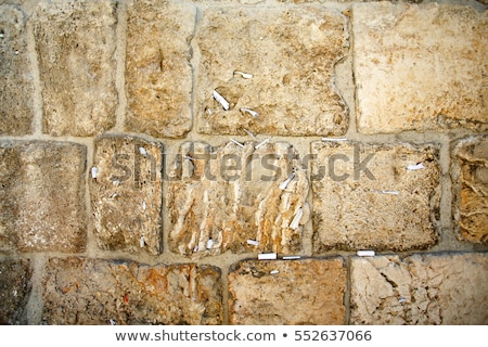 Rocks of the Wailing wall close up in Jerusalem Stock photo © AndreyKr