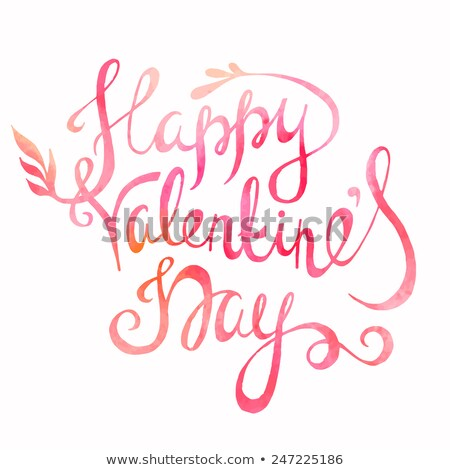 14 opschrift gelukkig valentijnsdag tekst Stockfoto © bharat
