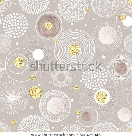 watercolor seamless pattern of circles stock photo © elenapro