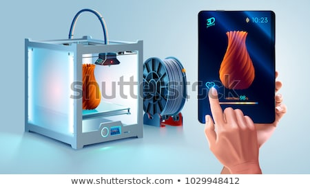 Printer for manufacturing 3d solid models Stock photo © cherezoff