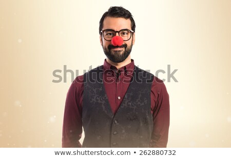 feliz · barbudo · homem · óculos · de · sol - foto stock © feedough