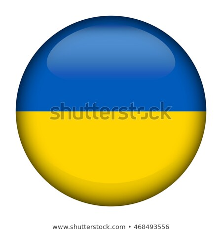 ukraine flag button icon modern stock photo © gubh83