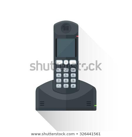 Draadloze telefoon zwarte groene scherm Stockfoto © stevanovicigor