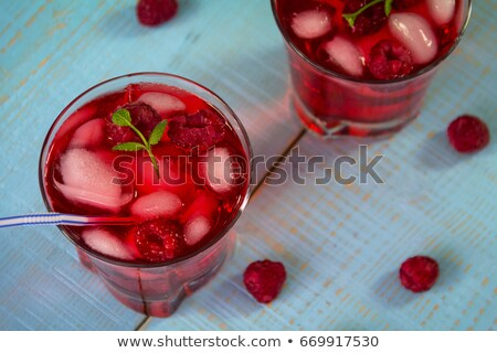 Sweet green drink with ice cubes non alcohol Stock photo © punsayaporn