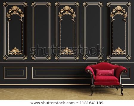 Vintage design of wood carving seat Stock photo © nalinratphi