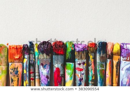 Schilderij geïsoleerd witte verf kunst onderwijs Stockfoto © wime