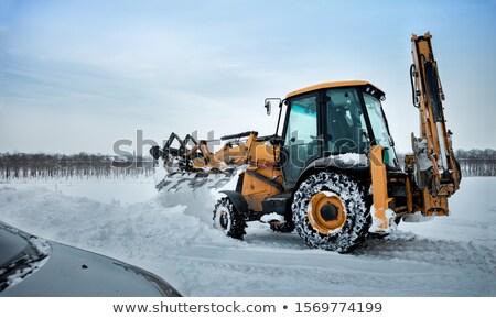 трактора · очистки · дороги · снега · зима - Сток-фото © smuki