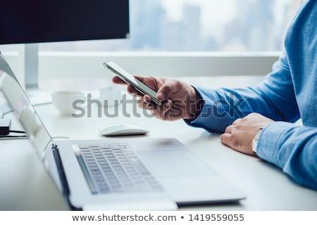 Modern iş telefon yalıtılmış beyaz Stok fotoğraf © gewoldi