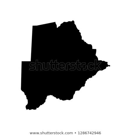 Térkép Botswana utazás fekete vektor Stock fotó © rbiedermann