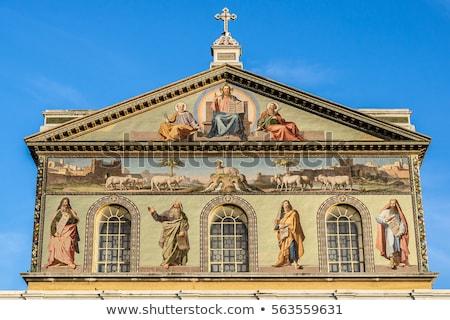 ヨーロッパの クリスチャン 教会建築 フロント 表示 ストックフォト © stryjek