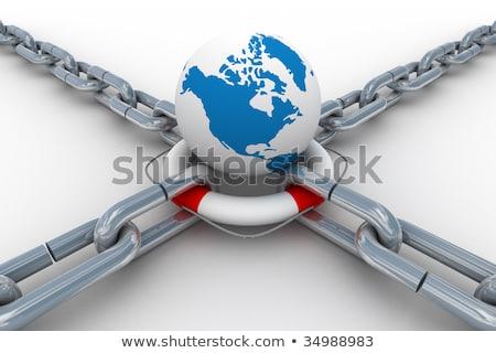 lánc · izolált · 3D · kép · építkezés · keret - stock fotó © ISerg