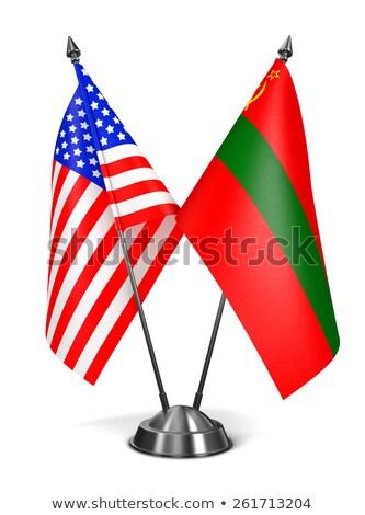 USA miniature drapeaux isolé blanche communication Photo stock © tashatuvango