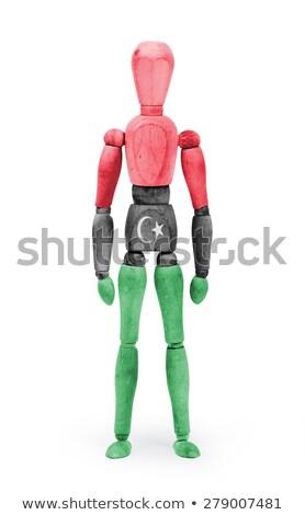 Wood figure mannequin with flag bodypaint - Libya Stock photo © michaklootwijk