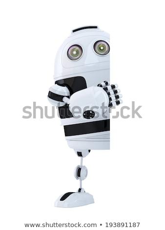 robot · achter · 3d · render · bouw · toekomst · veiligheid - stockfoto © kirill_m