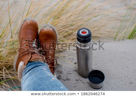 Thermos on the beach Stock photo © laciatek