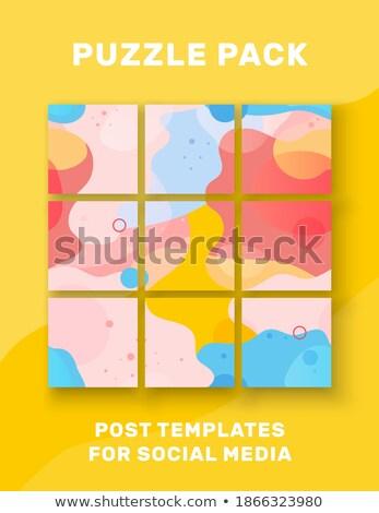 háló · forgalom · kék · puzzle · írott · ikon - stock fotó © tashatuvango