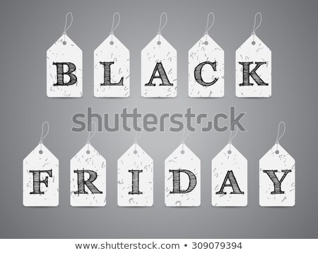Black friday labels with eraser dust Stock photo © vipervxw