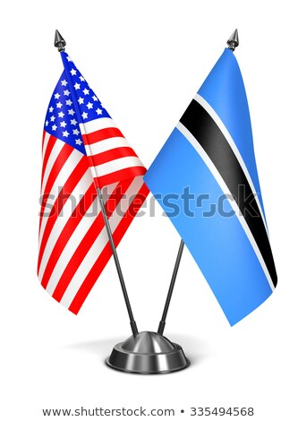 USA and Botswana - Miniature Flags. Stock photo © tashatuvango